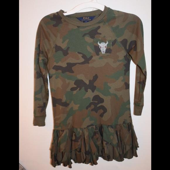 2b0a2b528a4 Polo by Ralph Lauren Dresses   Camo Tee Shirt Dress Kids Clothing ...